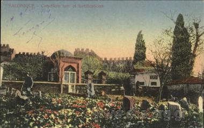 Salonique - Cimetière turc et fortifications.