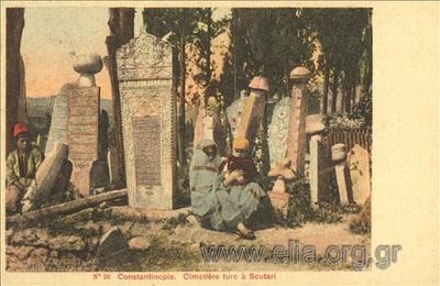 Constantinople. Cimetière turc à Scutari.