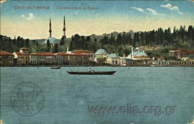 Constantinople - Cimetière turc à Eyoub.