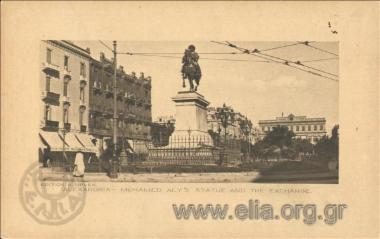 Alexandria. - Mohamed Aly's statue and the Exchange.