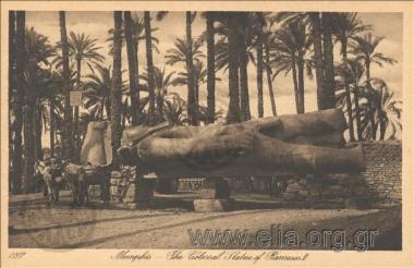 Memphis - The Colossal Statue of Rameses II.