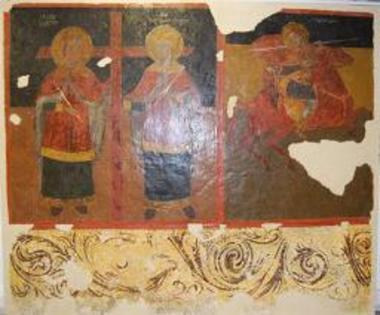 Τοιχογραφία του Αγίου Κωνσταντίνου και Ελένης, και του Αγίου Δημητρίου