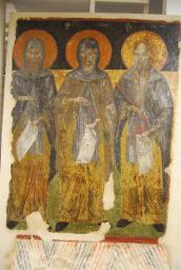 Τοιχογραφία με τους τρεις Ασκητές