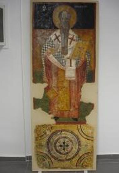 Τοιχογραφία αγίου Μόδεστου