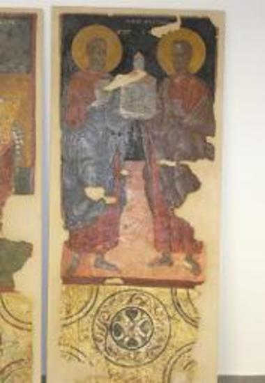 Τοιχογραφία Αποστόλων Πέτρου και Παύλου
