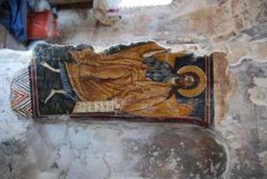 Τοιχογραφία με απεικόνιση του Αγίου Ιωάννη του Προδρόμου