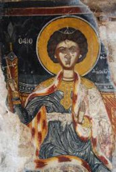 Τοιχογραφία με απεικόνιση του Αγίου Γεωργίου