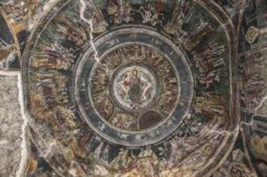 Τοιχογραφία με την παράσταση των Αίνων