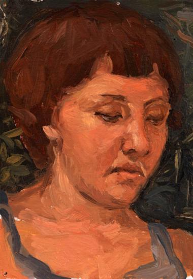 Portrait with closed eyes
