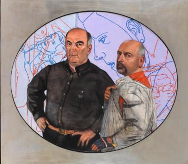 Portrait of Mr Frissiras and Pat Andrea