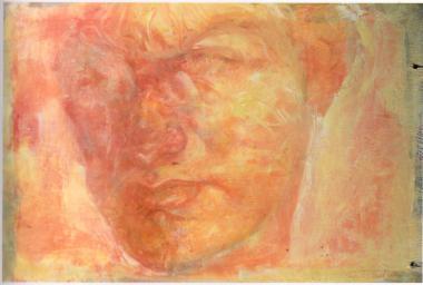 Self portrait in Rosso