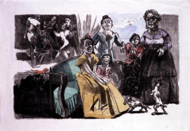 Jane Eyre Sensuality and the Stone- Self Portrait with Grandchildren