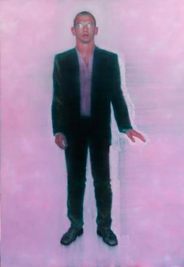 Self Portrait with Pinkish Background