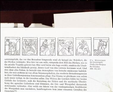 Σχεδιαστική αναπαράσταση των δυτικών μετοπών του ναού του Δία