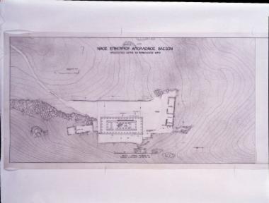 Ναός Επικουρίου Απόλλωνα. Σχέδιο-αρχαιολογικός χάρτης του περιβάλλοντος χώρου