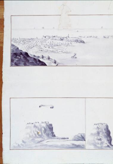 Σχεδιαστική απεικόνιση της Πύλου και του Παλαιόκαστρου