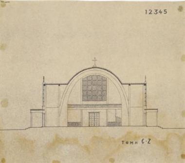 Εκκλησία 1000 ατόμων τομή Ε-Ζ