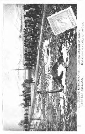 La guerre europeenne dans les balkans, colonne anglaise en marche = british soldiers going to the front [Γραφικά]