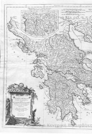 Graeciae Antiquae : spesimen Geographicum in quo Macedonia, Thessalia, Epirus, Achaia et Peloponisus [ΧΑΡΤΗΣ]