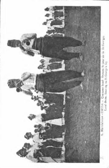 Macedoine - Grida - costume local: danses le jour de la St Georges  = local dress: dancing on St George's day [Γραφικά]