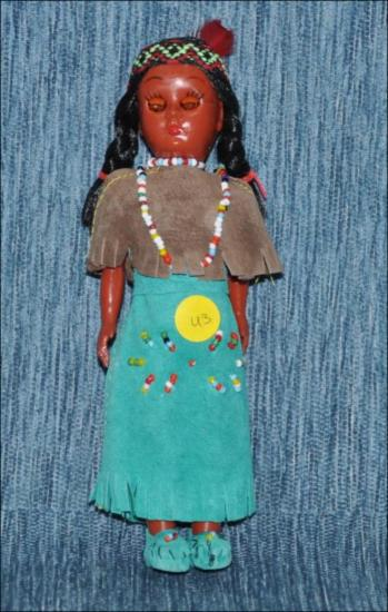 Vintage 1960's Native American Indian doll [Κούκλα]