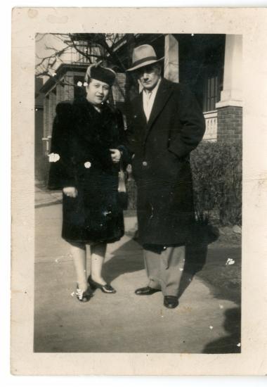 Το ζευγάρι Νίκος και Μαριέτα Κόρτη (Χατζηνικολάκη) στην Αμερική