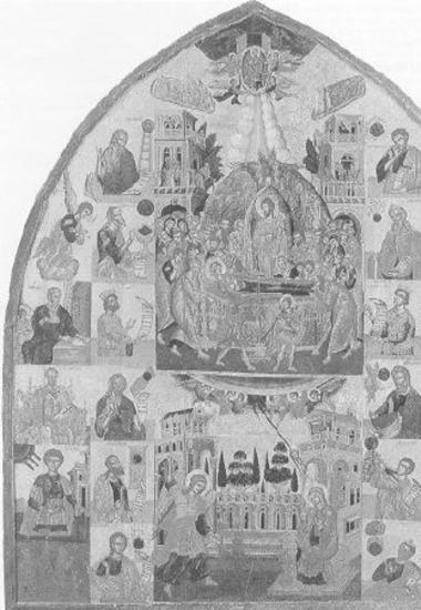 Κοίμηση Θεοτόκου, Ευαγγελισμός, προφήτες, άγιοι, The Dormition of the Virgin, the Annunciation, prophets, saints