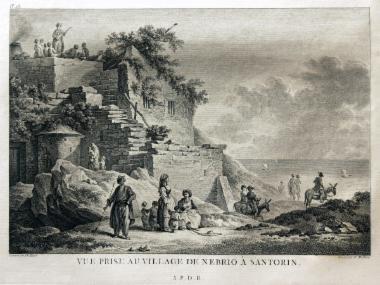 Άποψη του χωριού Νημποριός στη Σαντορίνη