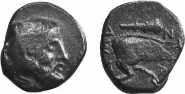 Χάλκινο νόμισμα Μακεδονικού βασιλείου, Βασιλιάς: Αμύντας Γ'