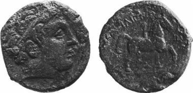 Χάλκινο νόμισμα Μακεδονικού βασιλείου, Βασιλιάς: Φίλιππος Β'