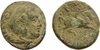 Χάλκινο νόμισμα Μακεδονικού βασιλείου, Βασιλιάς: Κάσσανδρος, Bronze coin of the Macedonian kingdom, Ruler: Cassander