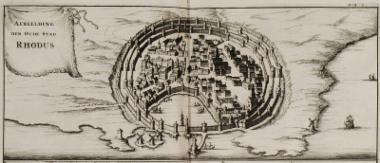 Άποψη της πόλης της Ρόδου.