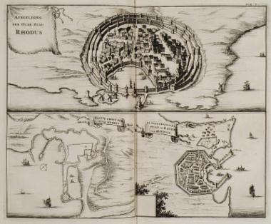 Τρίπτυχο με χάρτες της Ρόδου.