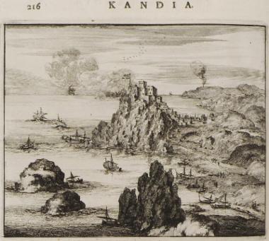 Άποψη του φρουρίου του Μεραμπέλλου στην Κρήτη.