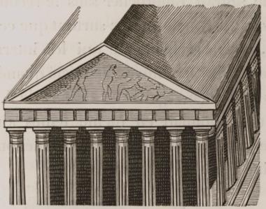 Το δυτικό αέτωμα του Παρθενώνα κατά τον Τζωρτζ Γουίλερ (Wheler), 17oς αώνας.