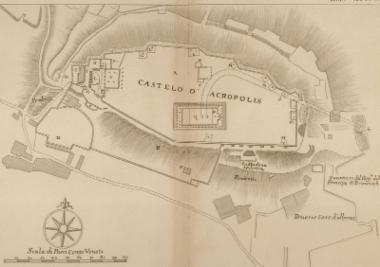 Χάρτης της πόλης των Αθηνών, του μηχανικού λογαγού Βερνέντα, 1687.