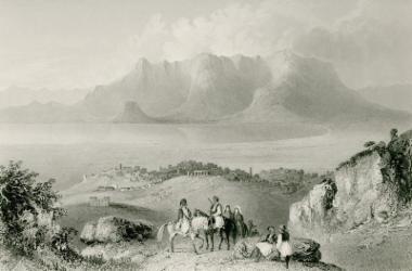 Άποψη της Κορίνθου από τον Ακροκόρινθο.