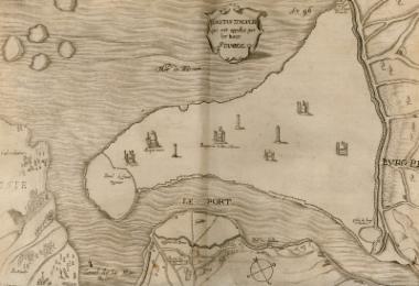 Χάρτης της Κωνσταντινούπολης.