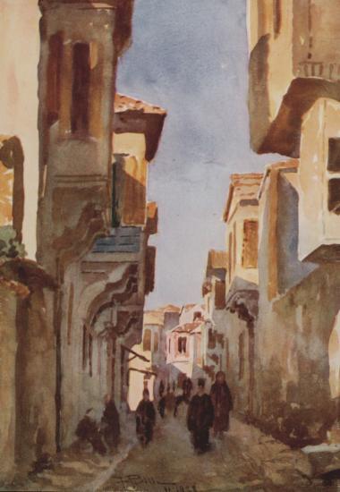 Δρόμος στην παλιά τούρκικη συνοικία στο Κάστρο της Χίου.