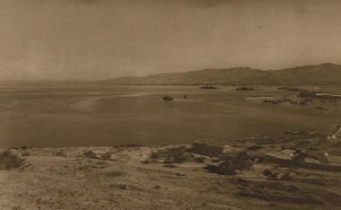 Άποψη του λιμανιού από την τουρκική συνοικία της Σμύρνης.