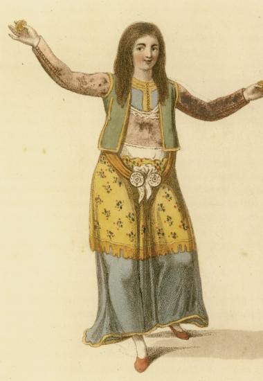 Γυναίκα από την Ήπειρο που χορεύει.