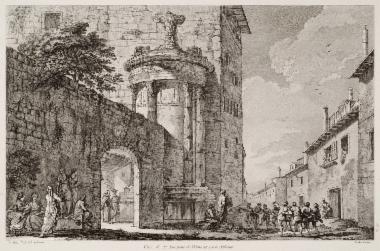 Άποψη του Χορηγικού Μνημείου του Λυσικράτη.
