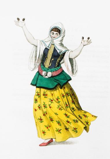 Μουσουλμάνα χορεύτρια της Κωνσταντινούπολης.