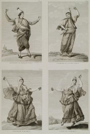 Οθωμανοί χορευτές.