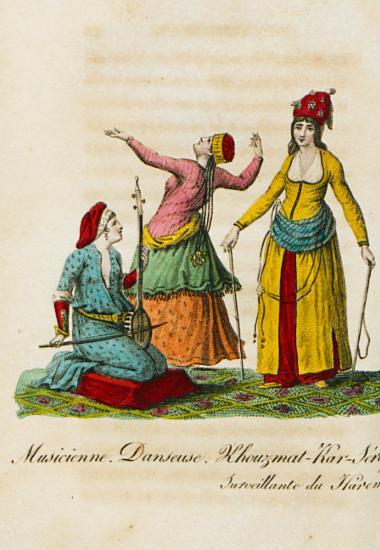 Μουσικός και χορεύτρια του Χαρεμιού. Η υπεύθυνη για τη διατήρηση της τάξης στο Χαρέμι του Σουλτάνου.