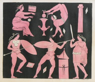 Παραστάσεις χορού από αρχαία ελληνικά αγγεία.