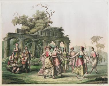 Σκηνή χορού στην Ελλάδα.
