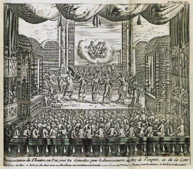 Θεατρική παράσταση παρουσία του βασιλιά του Τονκίν, στο Ανόι (Βιετνάμ).