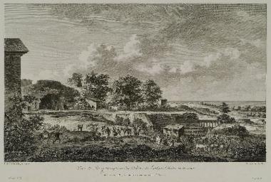 Άποψη του αρχαίου θεάτρου των Συρακουσών, πριν από την ανασκαφή του.