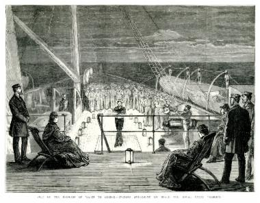 Η πριγκίπισσα Αλεξάνδρα της Ουαλίας ψυχαγωγείται στο βασιλικό σκάφος